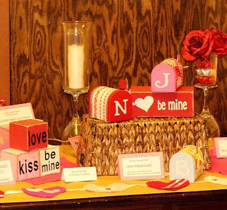 Pinterest Valentine's Display Table