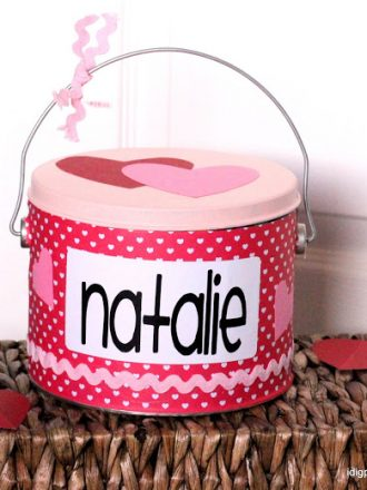 The Valentine's Pail–a Cute and Easy Alternative to the Shoe Box