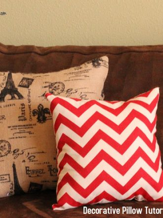 Easy DIY Decorative Pillow Tutorial