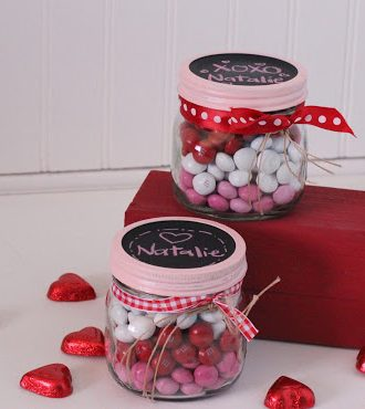 Valentine's Idea Week–Day 2–Layered Candy Mason Jars