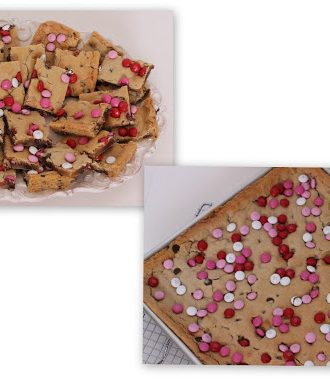 Valentine's Idea Week–Day 1–Chewy Chocolate Chip Bars