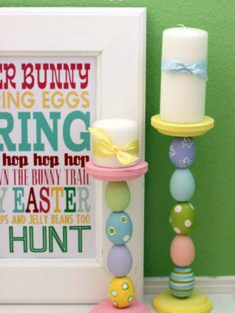 Easter Egg Candlesticks