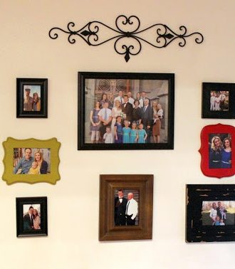 DIY Photo Collage Wall