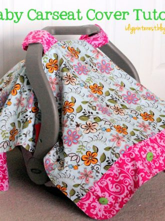 Baby Carseat Cover Tutorial