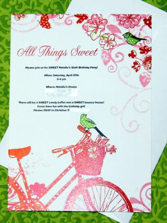 Personalized Party Invitations