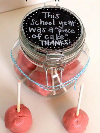 Cake Pop Teacher Appreciation Gift