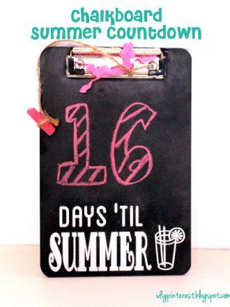 Chalkboard Countdown to Summer