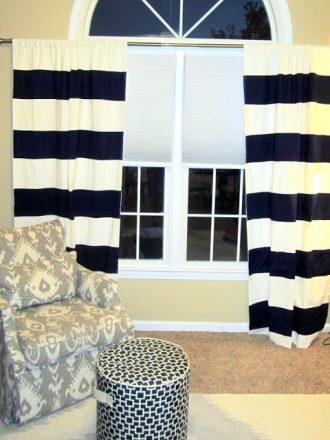 DIY Bold Striped Curtains