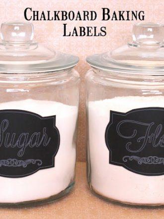 DIY Chalkboard Baking Labels