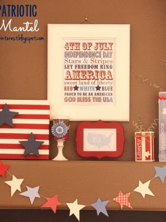Patriotic Mantel/DIY Red, White, and Blue Crafts