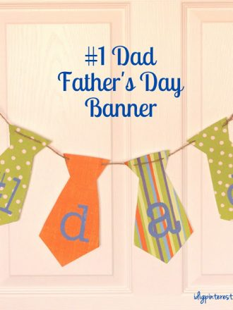 #1 Dad Father's Day Banner