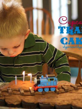 Simple Cupcakes Train Birthday Cake