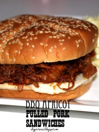 BBQ Apricot Pulled Pork Sandwiches