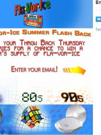 Creating Fun Summer Memories #FlaVorIceFlashback Sweepstakes ad