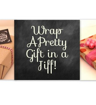 How to Wrap a Pretty Gift in 5 Minutes or Less