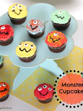 Kids in the Kitchen: Monster Cupcakes