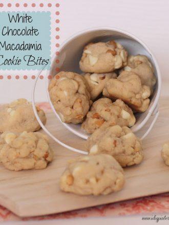 White Chocolate Macadamia Cookie Bites