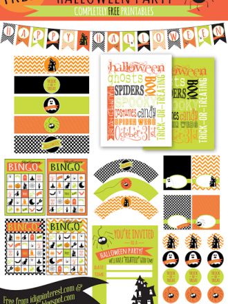 """FREE PRINTABLES: A """"Frightfully"""" Delightful Halloween Party!"""