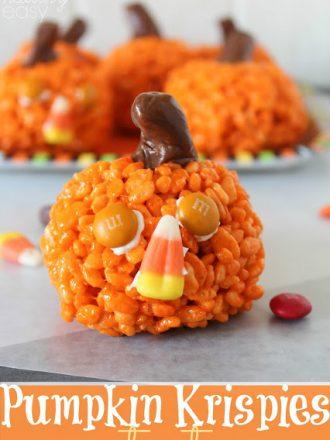 Pumpkin Krispies Treats