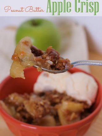 Peanut Butter Apple Crisp: September Mystery Dish Challenge