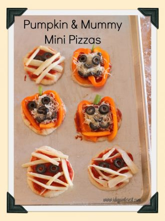 Kids in the Kitchen: Pumpkin & Mummy Mini Pizzas
