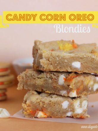 Candy Corn Oreo Blondie Bars