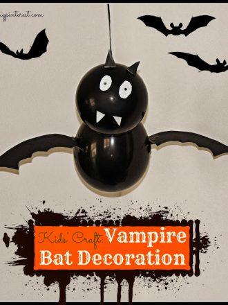 Halloween Kids' Craft: Vampire Bat Decoration