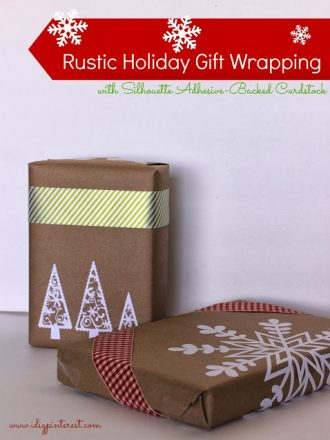 Rustic Holiday Gift Wrapping & Silhouette Black Friday Sale
