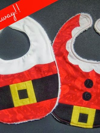 Santa and Mrs. Claus Baby Bib Giveaway!!!