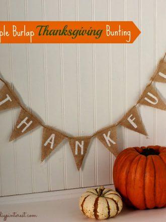 Simple No-Sew Burlap Thanksgiving Bunting