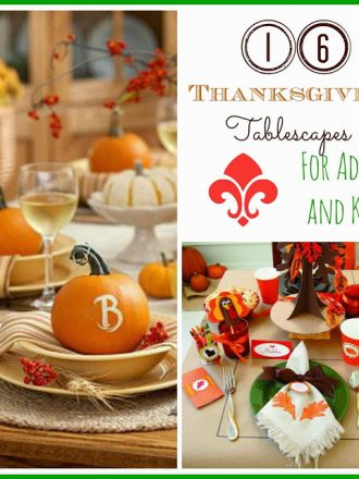 16 Thanksgiving Tablescape Ideas {for Adults & Kids}