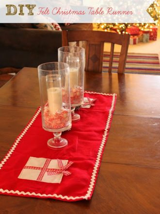 DIY Felt Christmas Table Runner