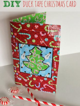 DIY Duck Tape Christmas Card with Built-In Gift Card Pocket!