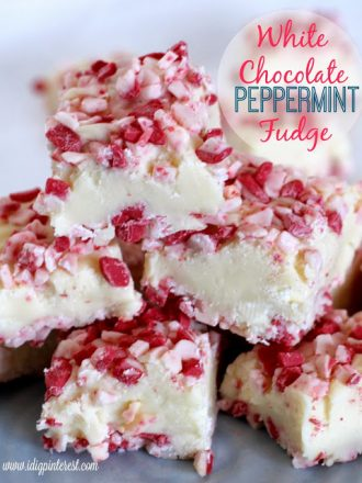 The Easiest White Chocolate Peppermint Fudge