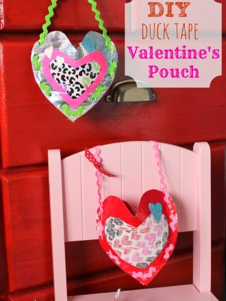 DIY Duck Tape Valentine's Pouch and Kids' Cupid Tradition
