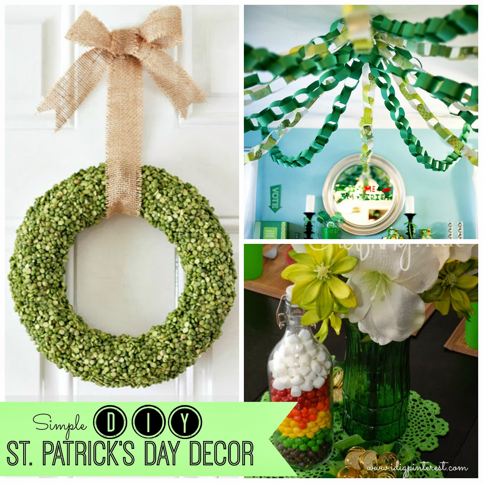 Simple Inexpensive DIY St Patricks Day Decor I Dig Pinterest - Best diy st patricks day decorations ideas