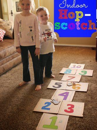 Indoor Hopscotch: Create Memories with Crayola