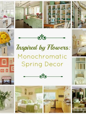 Inspired by Flowers: Monochromatic Spring Decor