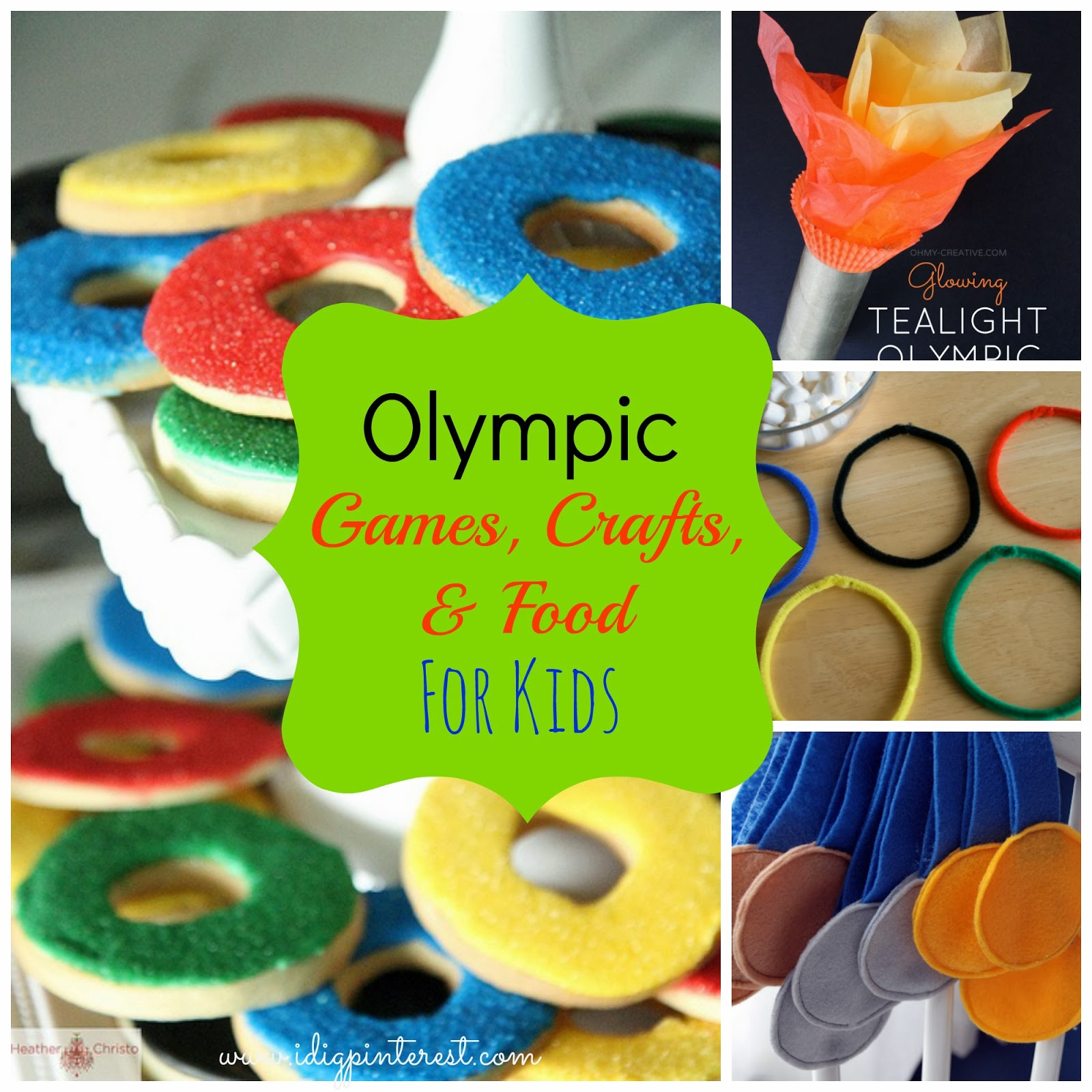 Olympic Games, Crafts, and Food for Kids - I Dig Pinterest
