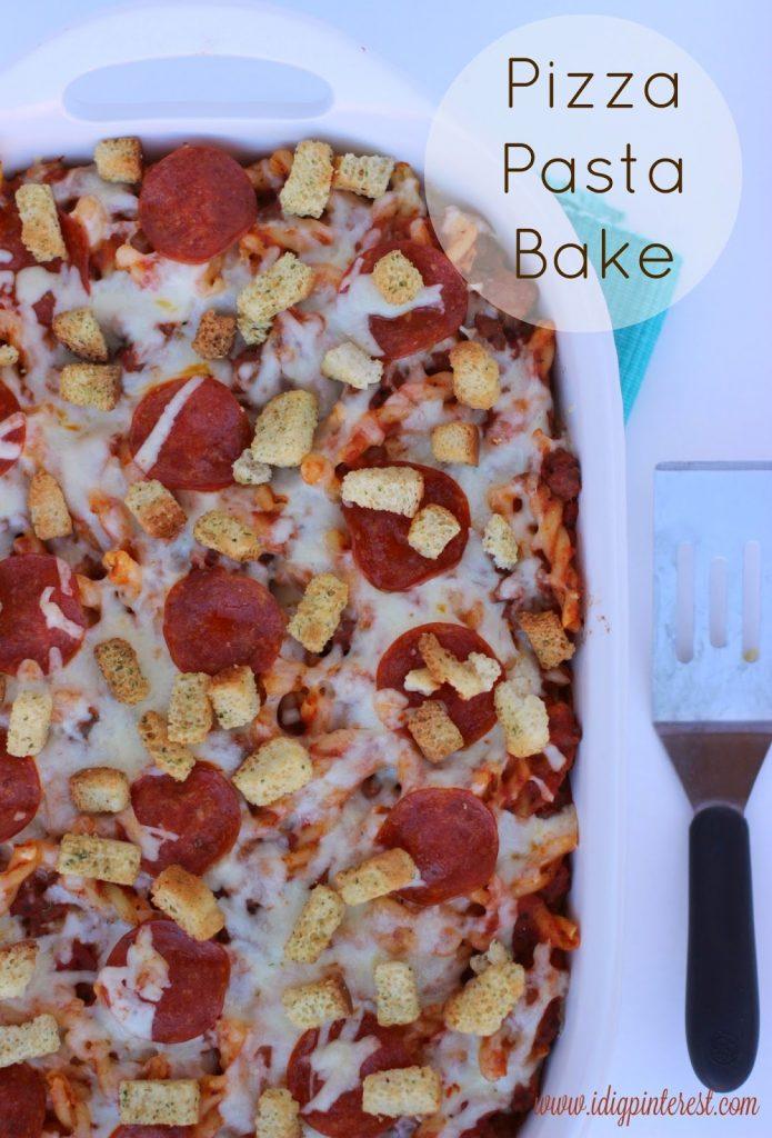 Pizza Pasta Bake on I Dig Pinterest