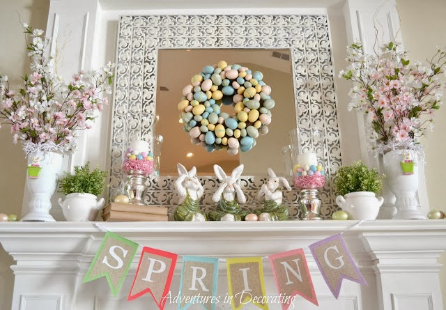 Im Loving This Gorgeous Spring Mantel From Adventures In Decorating