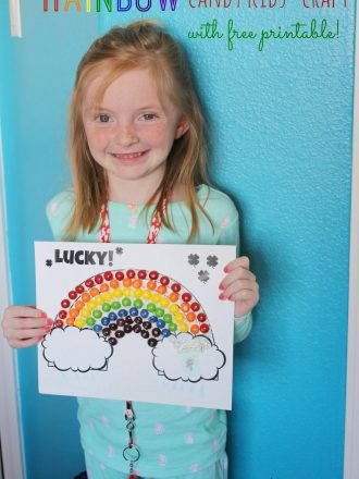 St. Patrick's Day Rainbow Candy Kids' Craft & Free Printable Coloring Page!
