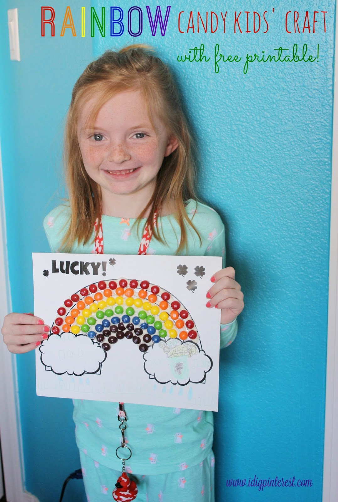 St Patricks Day Rainbow Candy Kids Craft Free Printable