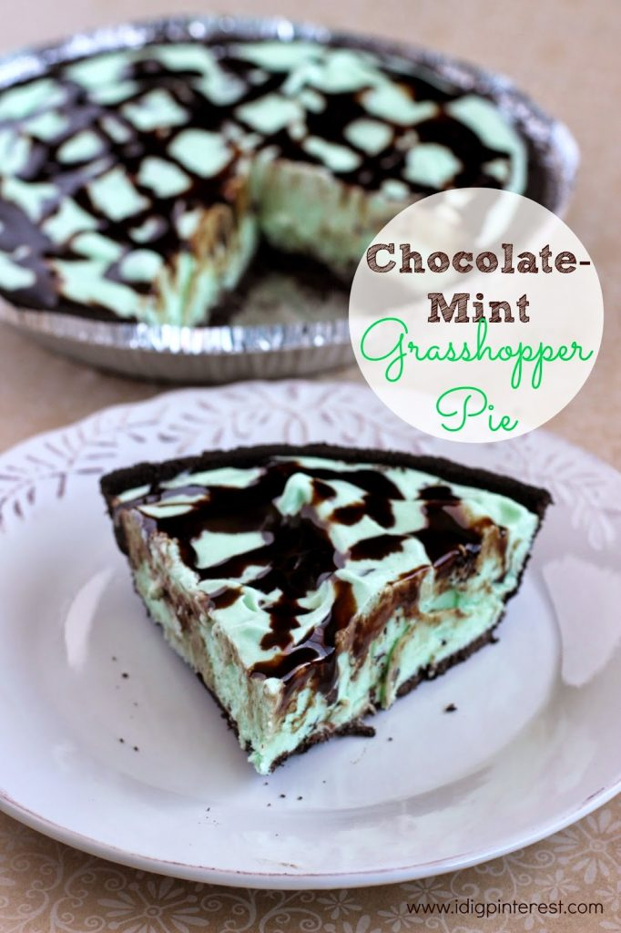 The Easiest Chocolate-Mint Grasshopper Pie