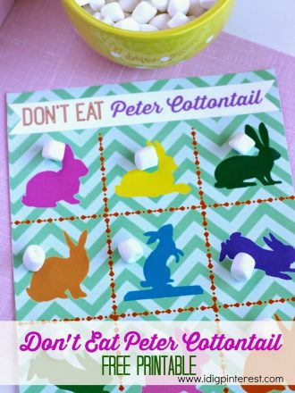 Don't Eat Peter Cottontail FREE PRINTABLE Game Board