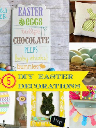 Easter Link Party Features: 15 DIY Easter Decorations for the Home