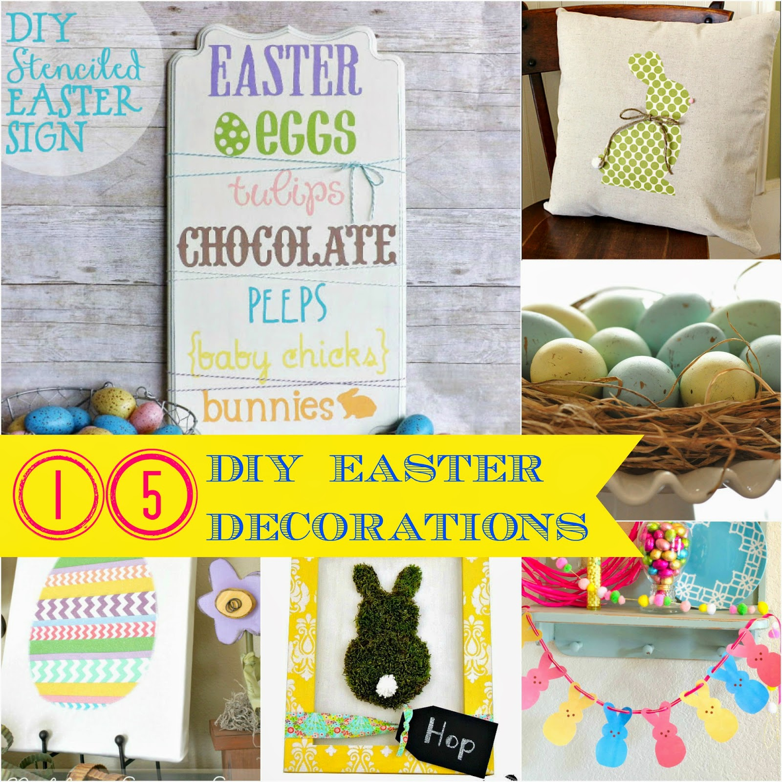 Easter link party features 15 diy easter decorations for for Easter home decorations pinterest