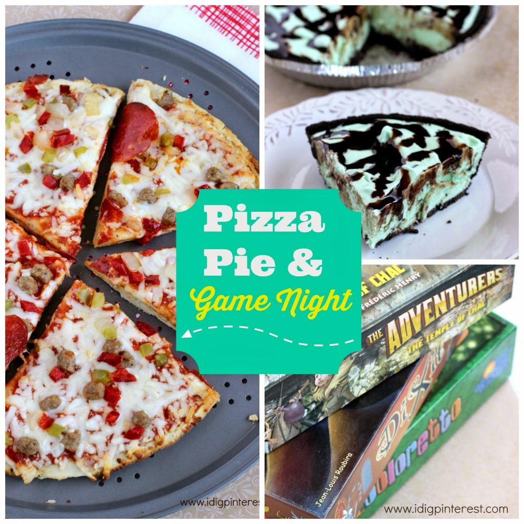 Host a Pizza, Pie and Game Night {The Easiest Grasshopper Pie Recipe}
