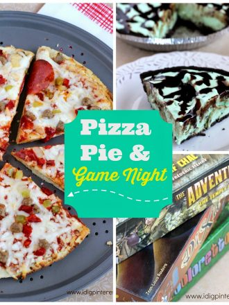 Pizza, Pie and Game Night! {The Easiest Grasshopper Pie Recipe}
