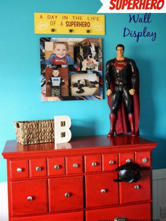 Superhero Wall Display